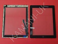 Per iPad 3 & 4 Touch Screen Digitizer vetro di ricambio nero con Pulsante Home