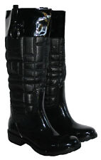 LADIES BLACK FASHION WELLY PULL ON SIZE 3