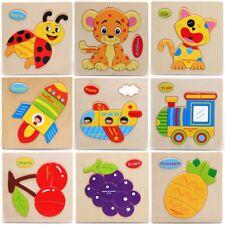 Kinder Puzzle Holz Steck Setz Puzzel Tiere SteckSspiel Holz Puzzel Kleinkind