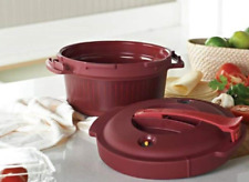 Tupperware Pressure Cooker 2 QT Capacity Pomegranate Color Microwave Safe New