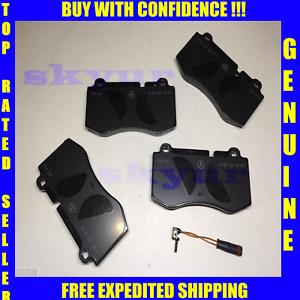 Mercedes-Benz Genuine Front Brake Pad Set, Pads w/Sensor 0044208020,2115401717