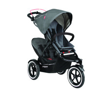 Phil & Teds Sport Inline Baby Double Stroller Buggy  Graphite $802 - AS IS