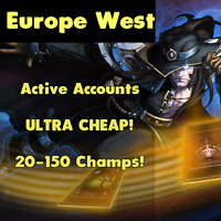 League of Legends LOL EUW Account Smurf Random Skins Champs EUW Unranked Level