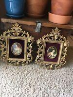Vtg Ornate Picture Frame Lot Cameo Creation Countess Blessington Lady Hamilton