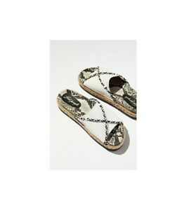 Free People Womens Dempsey Footbed Sandals White Size EU 37