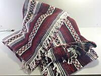 "Pair of 70's El Santanero Plus Vintage Mexican Woven 65"" x 46"" Blankets"