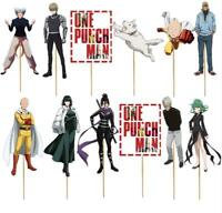 ONE PUNCH MAN SAITAMA CUP CAKE TOPPERS CUPCAKE BALLOON SUPPLIES DECORATIONS