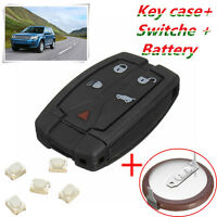 5 Button Remote Key Fob Case Shell +Battery +Switch For Land Rover Freelander