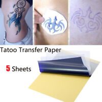 5x Tattoo Transfer Kopierpapier A4 Größe Schablone Carbon Thermal Tattoo Tools.