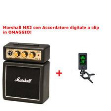 Marshall Ms2 Mini Amplificatore per Chitarra 1w Nero Clip aggancio Cintura