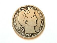 """1900- O Barber Half.  """"L"""" visible in head band"""