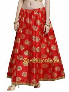 Indian Long Skirt, Bollywood Skirt, Red Lehanga, Dance Skirt