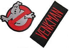 Ghostbusters No Ghost Logo & Venkman Name Tag Iron On Patch Set