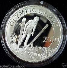 KAZAKHSTAN: 2009 Silver 100 tenge SPORT SKI JUMPING Olympic Games 2010 PRF