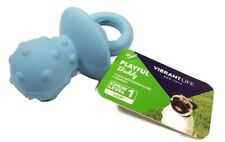 """Multipet BLUE PACIFIER Shaped Latex Fetch Chew Squeaky Puppy Dog Toy BOY GIRL 4"""""""