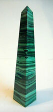 OBELISK MALACHITE POLISHED CRYSTAL made NAMIBIA 130mm GEMSTONE 157g