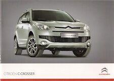 Citroen c-crosser 2009-10 uk market sales brochure 2.2 hdi vtr + exclusive