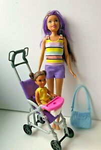 Barbie Babysitters with baby  & Stroller Playset (G1)