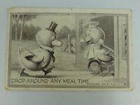 "Vintage Postcard ""Drop Around Any Meal Time"" F. Blum 1910"