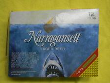 NARRAGANSETT BEER CRUSH IT LIKE QUINT JAWS MOVIE POSTER BOX SHARK ROCHESTER NY