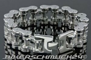 Motorradkette Armband in Mammut-Größe L extra schwer Edelstahl ca. 1,8 cm breit