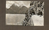 Switzerland real photo Vierwalstattersee with boat and car  1950's card unposted