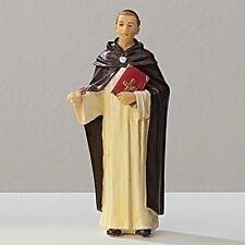 Statue St Thomas Aquinas 3.5 inch Painted Resin Figurine Patron Saint Catholic