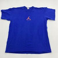 Nike T-Shirt Mens XL Blue Short Sleeve Crew Neck Jordan Jumpman Cotton Casual