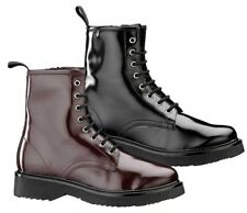 KEYS 7118 BORDEAUX NERO scarpe stivaletti stivali anfibi donna pelle zeppa
