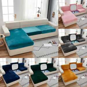 Sofa Seat Cushion Cover Couch Slip Velvet Stretchy Protector Home Decor Supplies