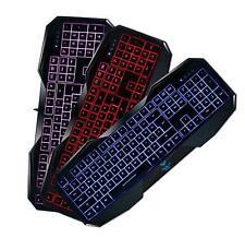3 Color AULA Gaming Keyboard for PC USB Multimedia LED Illuminated Backlight