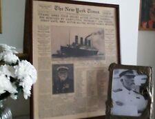 Titanic New York Times History Poster Newspaper Retro Captain Smith White Star