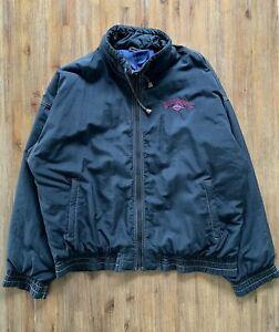 BILLABONG Size M Vintage Black Zip Surf Jacket Men's OCT54