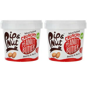 Pip and Nut Crunchy Peanut Butter 1KG Great Taste Award Winning 1 or 2 Tubs