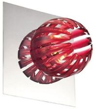 Eurofase 23203-020 Cosmo 1-Light Modern Wall Sconce, Chrome and Red Fixture