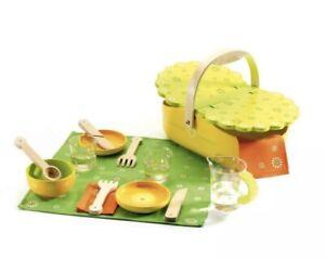 Djeco Wooden Picnic Basket Toy Set 073