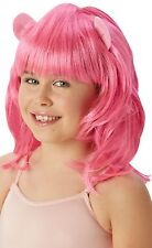 Girls My Little Pony Pinkie Pie Official Book Fancy Dress Costume Outfit Wig