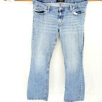 Levi's 524 Too Superlow Slim Straight Stretch Distressed Jeans Sz 13 Light Wash
