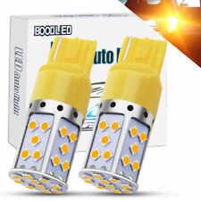 2X 7440 T20 LED Bulb 35SMD 2800LM W21W Amber Car Reverse Brake Turn Signal Light