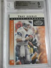 Troy Aikman #7 2000 Donruss Preferred 1 of 1125  Beckett 9 Mint