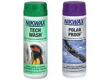 Nikwax Tech Wash / polari prova Twin Pack (300ml) PULIZIA impermeabilizzazione in Pile Sci
