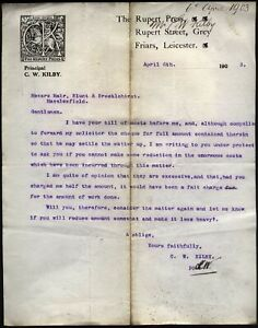 1903 LEICESTER- THE RUPERT PRESS, RUPERT St, Grey Friars, letter to Macclesfield