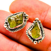 "Peridot 925 Sterling Silver Earrings 3/4"" Ana Co Jewelry E407818F"