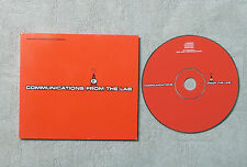 "CD AUDIO INT / VARIOUS ""COMMUNICATIONS FROM THE LAB"" CD COMPILATION FC SAMPLER"
