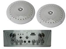 Verstärker Set mit USB MP3 Wand Decken Lautsprecher Paket Bad Küche Büro Praxis