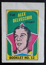 1971-72 OPC O-Pee-Chee Booklets #12 Alex Delvecchio Detroit Red Wings