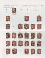 Penny Rojos Placas Londres pmks W Barrado 1-59... 79 Sellos