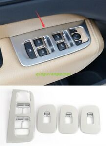 ABS Chrome Interior window switch panel cover Tirm For Volvo XC60 2018 2019