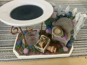 Yankee Candle Tart Wax Warmer Lilac Flowers Garden Patio Fence Chair