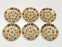 "Royal Crown Derby Old Imari SET OF 6 Saucers 5 7/8"" MINT"